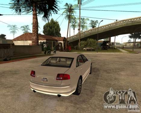 Audi A8 2003 for GTA San Andreas back left view