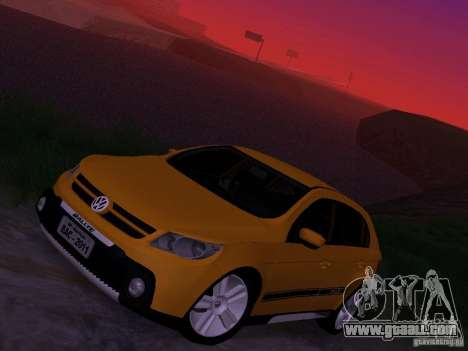 Volkswagen Gol Rallye 2012 for GTA San Andreas upper view