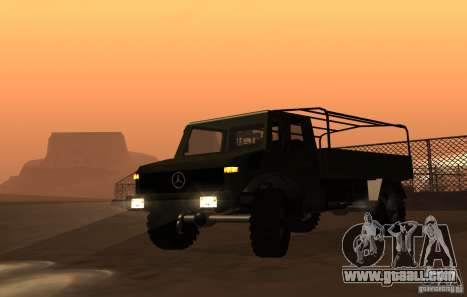 Mercedes-Benz Unimog for GTA San Andreas back left view