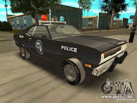 Plymout Duster 340 POLICE v2 for GTA San Andreas back view