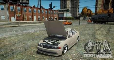 BMW 530i E39 for GTA 4 back view