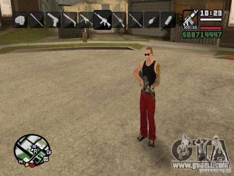 Icons when changing weapons for GTA San Andreas seventh screenshot