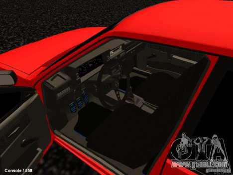 VAZ 2109 Opera Turbo for GTA San Andreas inner view