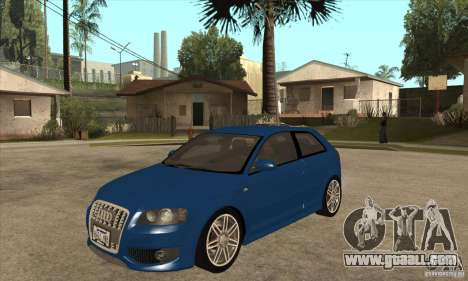 Audi S3 2007 - Stock for GTA San Andreas