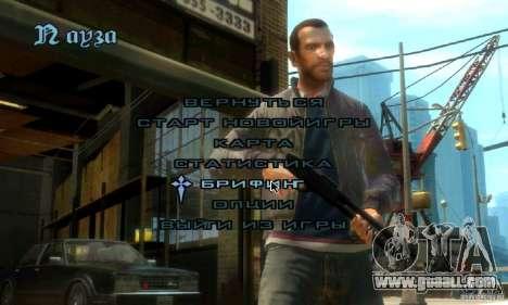Menu in the style of GTA 4 for GTA San Andreas second screenshot