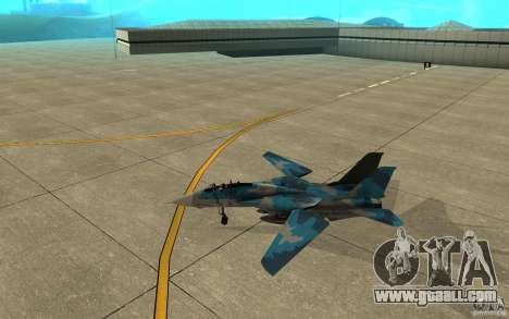F-14 Tomcat Blue Camo Skin for GTA San Andreas back left view