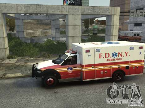 Ford F-350 Ambulance FDNY for GTA 4 left view