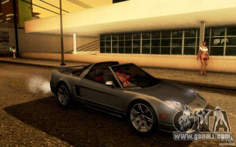 Acura NSX Targa for GTA San Andreas back view