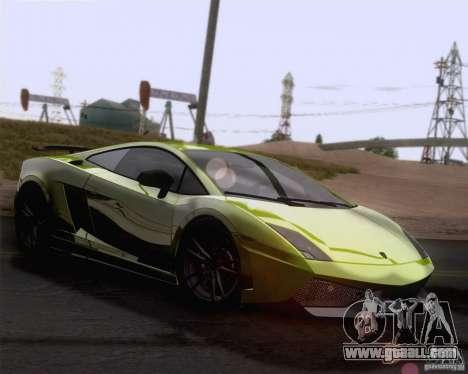 Lamborghini Gallardo LP570-4 Superleggera 2011 for GTA San Andreas upper view