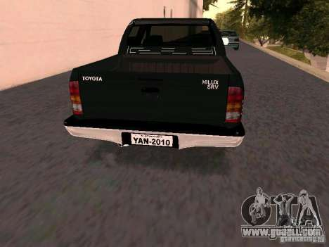 Toyota Hilux SRV 3.0 4X4 Automatica for GTA San Andreas back left view