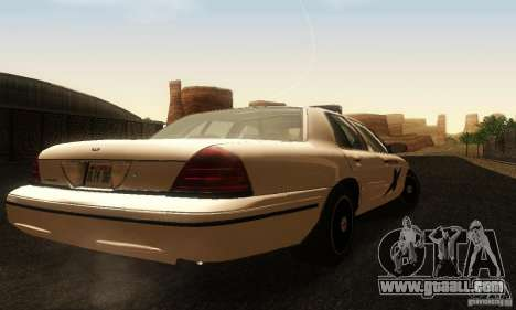 Ford Crown Victoria Washington Police for GTA San Andreas left view