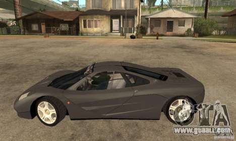 McLaren F1 for GTA San Andreas left view