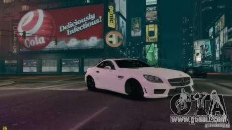 Mercedes-Benz SLK55 R172 AMG 2011 v1.0 for GTA 4 right view