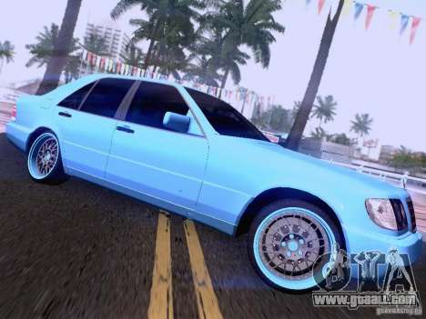 Mercedes-Benz S-Class W140 for GTA San Andreas upper view