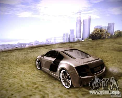 Audi R8 for GTA San Andreas back view
