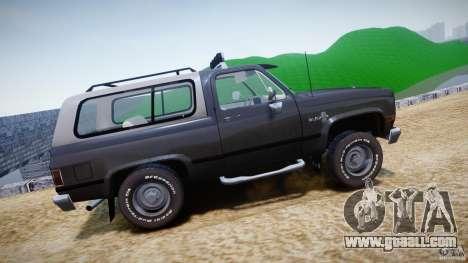 Chevrolet Blazer K5 Stock for GTA 4 left view