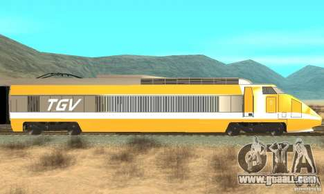 TGV SOUTH WEST for GTA San Andreas back left view