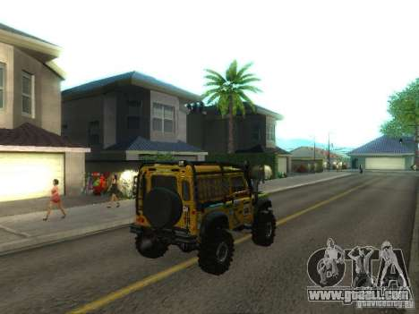 Land Rover Defender Off-Road for GTA San Andreas back left view