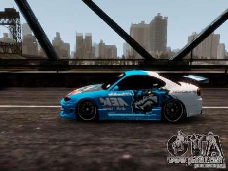 Nissm Silvia S15 Blue Tiger for GTA 4 back left view