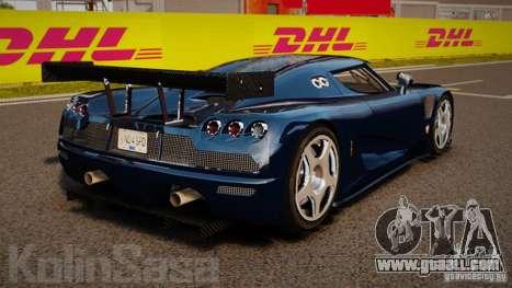 Koenigsegg CCGT Stock for GTA 4 back left view