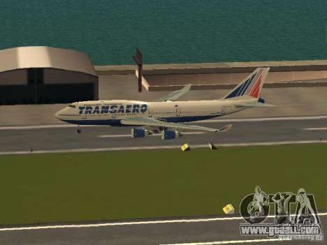 Boeing 747-400 for GTA San Andreas left view