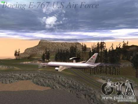 Boeing E-767 U.S Air Force for GTA San Andreas engine