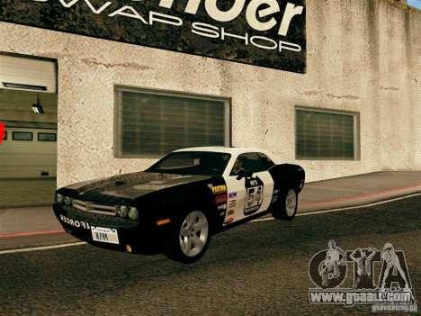 Dodge Challenger SRT8 for GTA San Andreas upper view