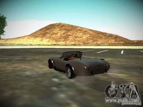 Shelby Cobra for GTA San Andreas back left view