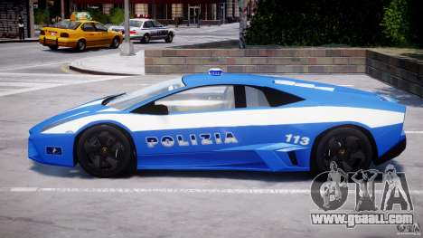 Lamborghini Reventon Polizia Italiana for GTA 4 bottom view