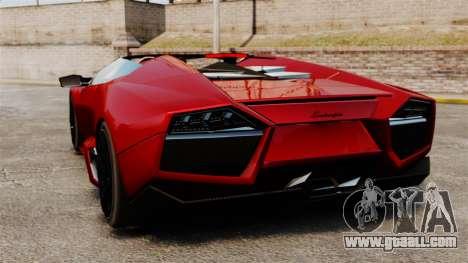 Lamborghini Reventon Roadster 2009 for GTA 4 back left view