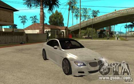 BMW M6 Coupe V 2010 for GTA San Andreas back view