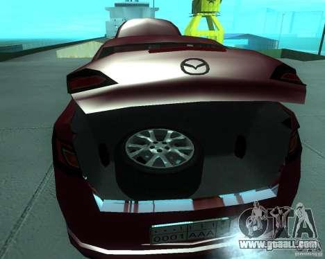 Mazda 6 2010 for GTA San Andreas back view