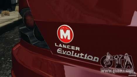 Mitsubishi Lancer Evolution 8 for GTA 4 upper view