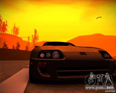 Toyota Supra SHE for GTA San Andreas right view