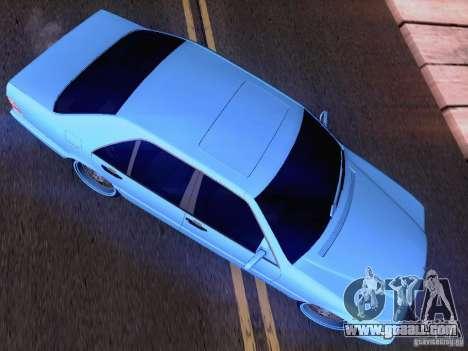 Mercedes-Benz S-Class W140 for GTA San Andreas interior