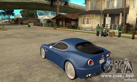 Alfa Romeo 8C Competizione for GTA San Andreas back left view