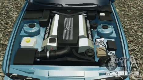 BMW E34 V8 540i for GTA 4 bottom view