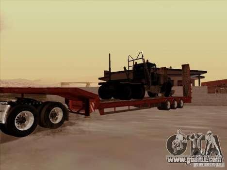 Volvo VNL 670 trailer for GTA San Andreas back view
