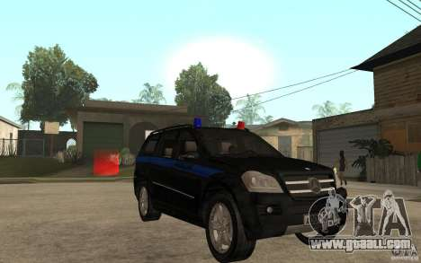 Mercedes Benz GL500 Police for GTA San Andreas back view