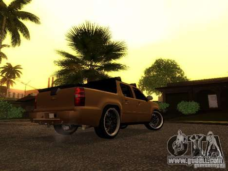 Chevrolet Avalanche Tuning for GTA San Andreas back left view