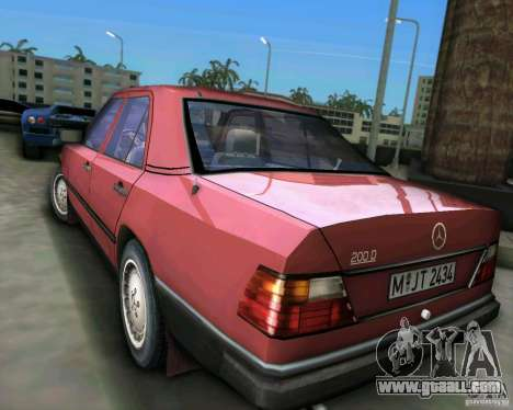 Mercedes-Benz E190 for GTA Vice City right view