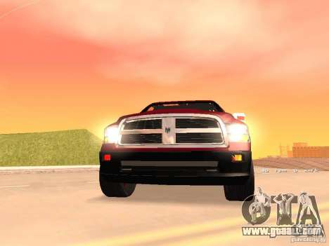 Dodge Ram 2010 for GTA San Andreas back view