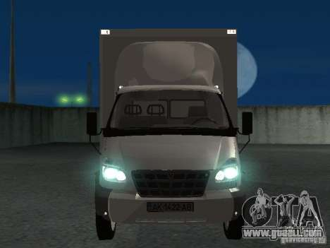33102 Valday GAZ (long) for GTA San Andreas inner view