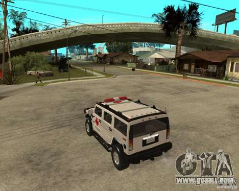AMG H2 HUMMER - RED CROSS (ambulance) for GTA San Andreas left view