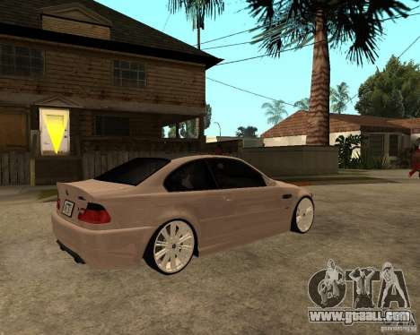 BMW M3 CSL E46 G-Power for GTA San Andreas back left view