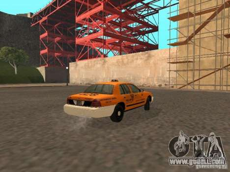 Ford Crown Victoria San Francisco Cab for GTA San Andreas back view
