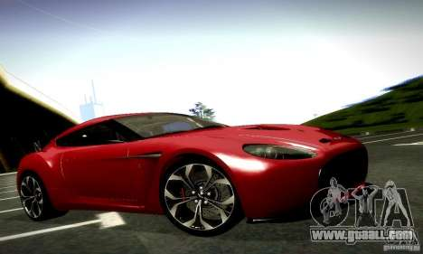Aston Martin V12 Zagato Final for GTA San Andreas bottom view