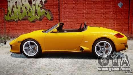 Ruf RK Spyder v0.8Beta for GTA 4 left view