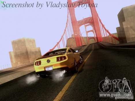 Ford Mustang GT 2011 for GTA San Andreas left view