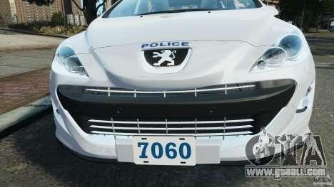 Peugeot 308 GTi 2011 Police v1.1 for GTA 4 engine